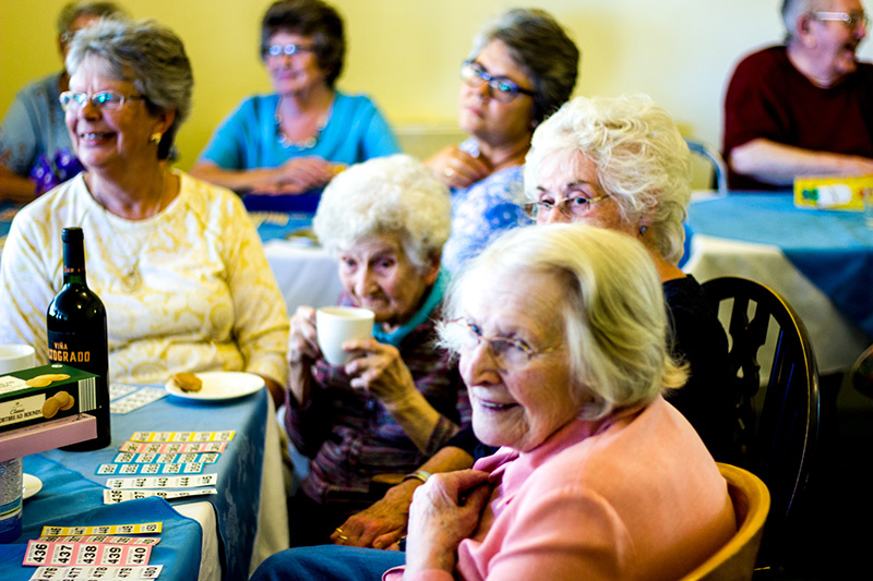 Residents at Southlands Care Home